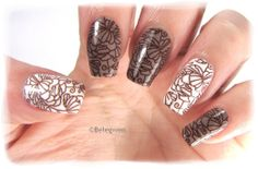 Nail Art by Belegwen: OPI Berlin There Done That & Essie Blanc
