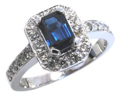 Gorgeous Sapphire and Diamond ring /  #sapphire #diamond #hannoushjewelers // Available at Hannoush Jewelers and www.Hannoush.com