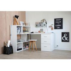 Bureau réversible avec bibliothèque, 2 coloris, fé La Redoute Interieurs | La Redoute