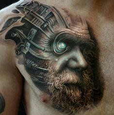 Charles Darwin & Cyborg Morph