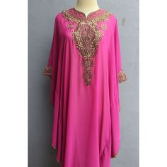 Fancy Pink Caftan Dress/ Chiffon Maxi Top Tunic/Oversized Short... ($34) ❤ liked on Polyvore featuring tops, tunics, dressy tops, pink sequin top, sequin top, chiffon top and pink tunic