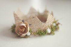Newborn Mini Burlap and Moss Crown, Newborn Photography Prop … Diy Headband, Newborn Headbands, Newborn Photography Props, Newborn Photo Props, Newborn Tieback, Prop Making, Foto Baby, Diy Photo, Photos