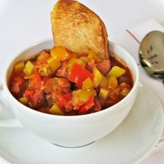 """Yep, you guessed it, we are going Hungarian today. I am making """"Leczo"""" (Lesco/Lecho), a traditional Hungarian dish with tomato, peppers a. Soup Recipes, Dinner Recipes, Polish Recipes, Polish Food, Sausage Stew, Good Food, Yummy Food, I Want To Eat, Pork Dishes"""