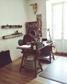 Workplace, studio.