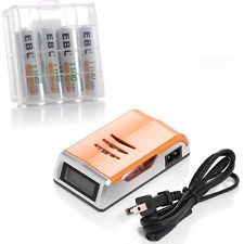 Universal AA AAA Battery Charger With 4X AAA 1100mAh NI MH Rechargeable Battery | eBay