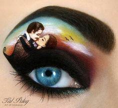 Passionate makeup painting by Tal Peleg  romantic