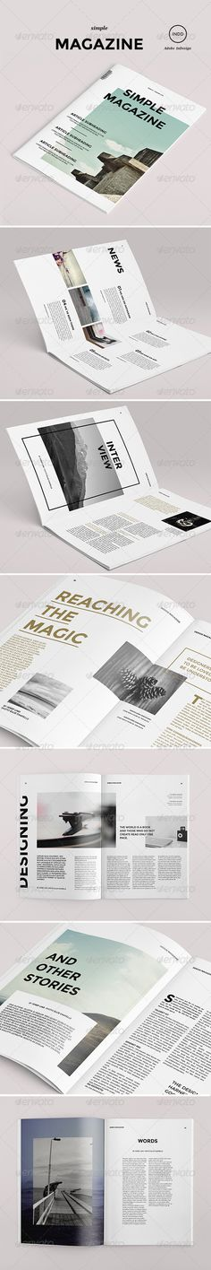 Simple Magazine - Magazine Print Template Best Picture For poem Book Design For Your Taste You are l Editorial Design, Editorial Layout, Graphic Design Layouts, Graphic Design Typography, Web Design, Print Design, Layout Inspiration, Graphic Design Inspiration, Design Ideas