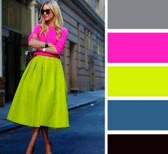 Alina Babina color palettes -- My favorite colors! Colour Combinations Fashion, Color Combinations For Clothes, Color Blocking Outfits, Fashion Colours, Colorful Fashion, Color Combos, Color Schemes, Fashion Mode, Look Fashion