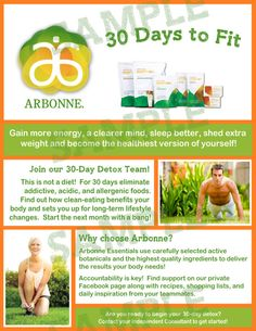 Arbonne 30 Days to Fit Flyer No edits just by TheGolightlyProject http://www.maimieyelland.arbonne.com