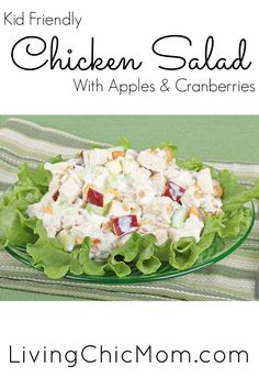 Chicken Salad with Apples and Cranberries - Living Chic Mom