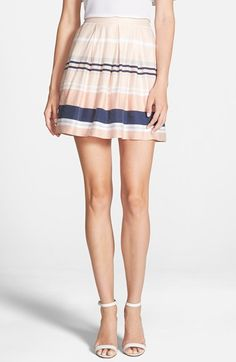 Chelsea28 Pleated Stripe Skirt available at #Nordstrom