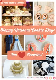 Happy National Cookie day from AllFreeDIYWeddings!  Find all these cookie recipes and MORE here: http://www.allfreediyweddings.com/ #nationalcookieday