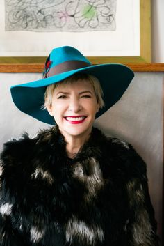 Lori Goldstein-Editor at Large for Elle Magazine...love the hat with the fur..