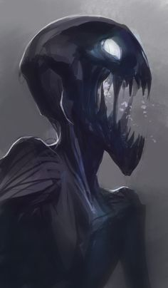Quick enderman to wind down at the end of the stream Monster Concept Art, Fantasy Monster, Monster Art, Monster Drawing, Creepy Monster, Monster High, Creepy Drawings, Dark Art Drawings, Animal Drawings