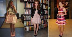 Ladylike-A elegancia das decadas 1950 e 1960 continua influenciando a moda atual.saias midi levemente godê emprestam seu ar refinado para as roupas do dia a dia.