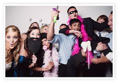 The perfect addition for a wedding. No need to rent an expensive photo booth. It is a photo booth at the fingertips of every person who attends your event. There is always room to squeeze in, and share the fun.