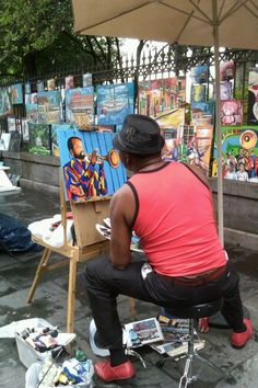 the art in Jackson Square, New Orleans, Louisiana