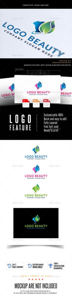 Logo Beauty Logo Template Vector EPS, AI. Download here: http://graphicriver.net/item/logo-beauty/12586407?ref=ksioks