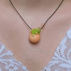 Planter Necklace No.1 Peach now featured on Fab.