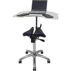 Salli Ergonomic Twin Chair with Elbow Table Saddle Chair, Easy To Use, Drafting Desk, Wood, Table, Twin, Furniture, Helsinki, Design