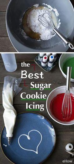 Best sugar cookie icing recipe ever - Best cookie recipes Best Sugar Cookie Icing, Easy Sugar Cookies, Cookie Frosting, Sugar Cookies Recipe, White Icing Recipe For Cookies, Simple Icing Recipe, Icing Sugar Recipe, Buttercream Frosting, Cupcakes