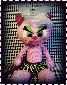 Amigurumi - CYBER KITTIE  http://psychodollshop.blogspot.com