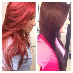 Three CHI reds: 8RR, 7RR, 7RV #hair #color #chicolor ...