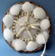 Seashell Shell Ring Bearer Holder Bowl Dish Wedding Ring Pillow