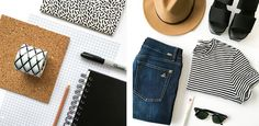 How to style a flat lay photo for your Instagram or blog | Five ways to style a flat lay!! www.smalltalksocial.com