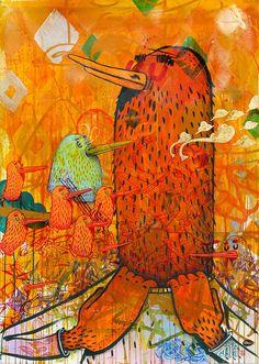 "On View: Alëxone Dizac's ""Banana Spleen"" at David Bloch Gallery 02 | Hi-Fructose Magazine"