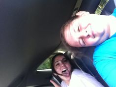 Jamming in car with friends fun