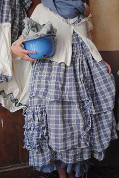 Mlle Lilas : Robe à carreaux Gris-Bleu et écru... -20% - Atelier ...
