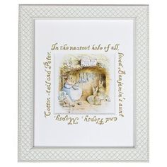 Classic Enchanted Forest Framed Nursery Wall Art: Rabbits