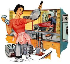 Cleaning Tips For Retro Housewives The Thrifty Kitschy Housewife Series Skip the Brillo .clean with potatoes?