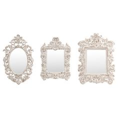 An elegant addition to your living room or den, these stylish wall mirrors showcase Baroque-inspired frames and warmly weathered finishes.  ...