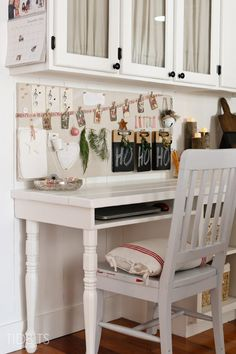 A Cottage Christmas Home Tour - Love this memo board!!
