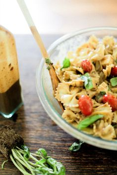 My own recipe for Caprese Pasta Salad featured on irrelephant blog!