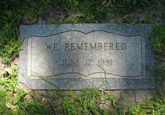 Grave of an unidentified victim serial killer, John Wayne Gacy