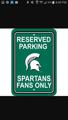 NCAA Michigan State Spartans 8-Inch by 11-Inch Metal Parking Sign D/écor