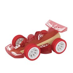 This fun, good quality little car will be a favourite with boys and girls who love cars.  Great for imaginative play with a toy garage.  Great for working on early sound production (e.g. brrrmm, beep beep), action word vocabulary (drive, stop, go, crash). ​This Hape Mini Racer is made from bamboo, a renewable resource that is stronger than oak and can withstand a great deal of use. Measures approx. 2.5 H x 5.5 W x 8cm L. Ages 3yrs+.  It's been given the toy car seal of approval by my 7 year…