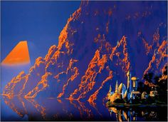 70s sci-fi art: Sci-fi cities. Artists in order: Tim White, Angus...