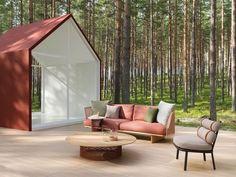Terrasse d'extérieur en pleine forêt