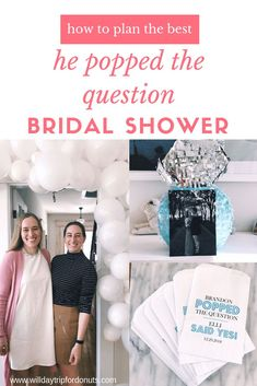 bridal shower theme he popped the question #weddingplanning #bridalshower #etsy