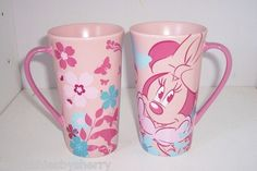 Disney Store Pink Minnie Mouse Butterfly Tall Tea Coffee Mug Cup NEW Retired