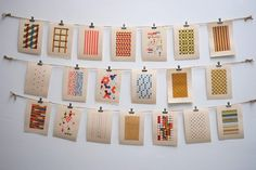 cool way to display art (Lovely art too from squid whale designs Etsy shop) #ruffledbazaar