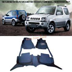 72.25$  Buy here - http://alik4u.worldwells.pw/go.php?t=32777414352 - Interior Black Leather Floor Mats & Carpets For Suzuki Jimny 2000-2015
