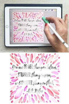 Watercolor Hand Lettering on Your iPad in Procreate + Free Brushes and Paper Tex. Watercolor Hand Lettering on Your iPad in Procreate + Free Brushe. Illustrator Tutorials, Art Tutorials, Adobe Illustrator, Watercolor Hand Lettering, Brush Lettering, Photoshop, Digital Art Tutorial, Ipad Art, Lettering Tutorial