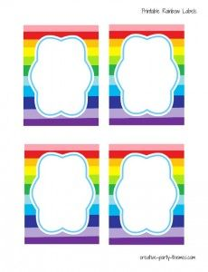 Free rainbow party printables!