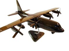 C-130 Hercules Handcrafted Mahogany Wood by PremiumWoodDesigns