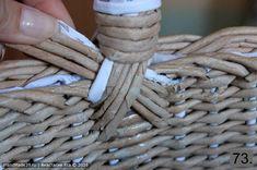 Storage Baskets, Merino Wool Blanket, Wicker Baskets, Diy And Crafts, Weaving, Ideas, Paper Crafts, Paper Envelopes, Basteln